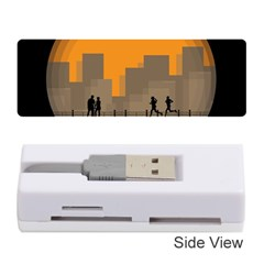 City Buildings Couple Man Women Memory Card Reader (stick)