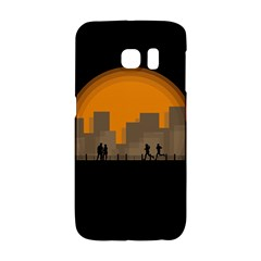 City Buildings Couple Man Women Galaxy S6 Edge