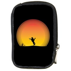 Horse Cowboy Sunset Western Riding Compact Camera Cases