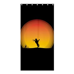 Horse Cowboy Sunset Western Riding Shower Curtain 36  X 72  (stall)