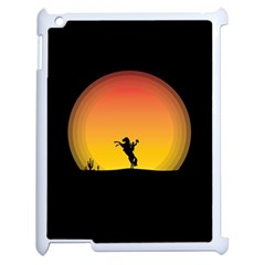 Horse Cowboy Sunset Western Riding Apple Ipad 2 Case (white)