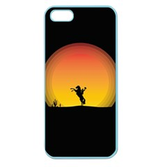 Horse Cowboy Sunset Western Riding Apple Seamless Iphone 5 Case (color)