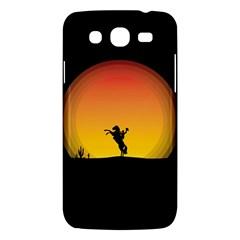 Horse Cowboy Sunset Western Riding Samsung Galaxy Mega 5 8 I9152 Hardshell Case
