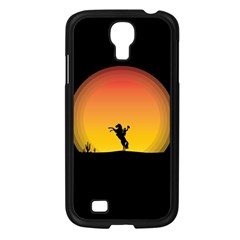 Horse Cowboy Sunset Western Riding Samsung Galaxy S4 I9500/ I9505 Case (black)