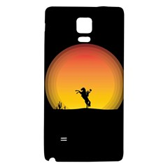 Horse Cowboy Sunset Western Riding Galaxy Note 4 Back Case