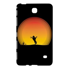 Horse Cowboy Sunset Western Riding Samsung Galaxy Tab 4 (8 ) Hardshell Case