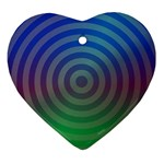 Blue Green Abstract Background Ornament (Heart) Front