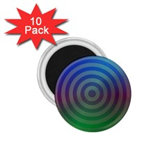Blue Green Abstract Background 1 75  Magnets (10 Pack)