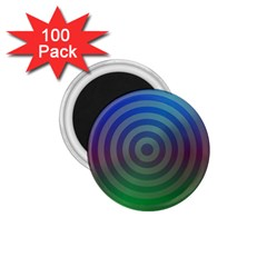 Blue Green Abstract Background 1 75  Magnets (100 Pack)