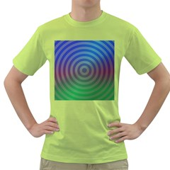 Blue Green Abstract Background Green T Shirt