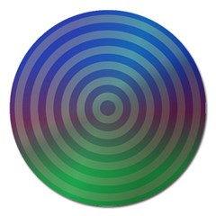 Blue Green Abstract Background Magnet 5  (round)