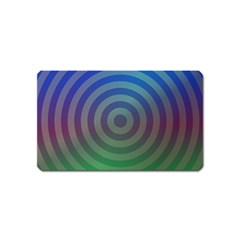 Blue Green Abstract Background Magnet (name Card)