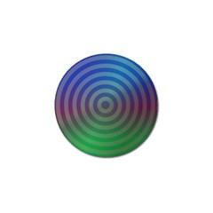 Blue Green Abstract Background Golf Ball Marker