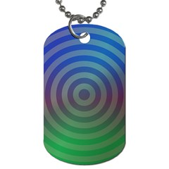 Blue Green Abstract Background Dog Tag (two Sides)