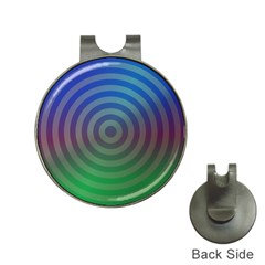 Blue Green Abstract Background Hat Clips With Golf Markers