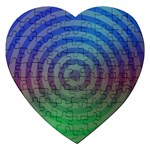 Blue Green Abstract Background Jigsaw Puzzle (Heart) Front