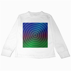 Blue Green Abstract Background Kids Long Sleeve T Shirts