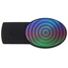 Blue Green Abstract Background Usb Flash Drive Oval (4 Gb)