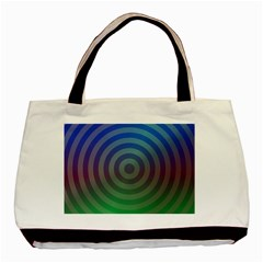 Blue Green Abstract Background Basic Tote Bag