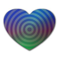 Blue Green Abstract Background Heart Mousepads
