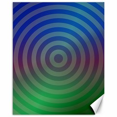 Blue Green Abstract Background Canvas 11  X 14