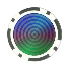 Blue Green Abstract Background Poker Chip Card Guard (10 Pack)