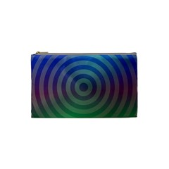 Blue Green Abstract Background Cosmetic Bag (small)