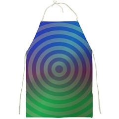 Blue Green Abstract Background Full Print Aprons