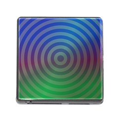 Blue Green Abstract Background Memory Card Reader (square)