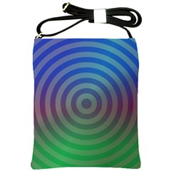 Blue Green Abstract Background Shoulder Sling Bags