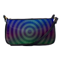 Blue Green Abstract Background Shoulder Clutch Bags