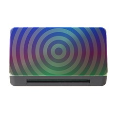 Blue Green Abstract Background Memory Card Reader With Cf