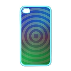 Blue Green Abstract Background Apple Iphone 4 Case (color)