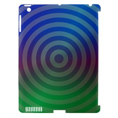 Blue Green Abstract Background Apple Ipad 3/4 Hardshell Case (compatible With Smart Cover)