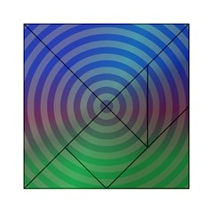 Blue Green Abstract Background Acrylic Tangram Puzzle (6  X 6 )