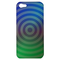 Blue Green Abstract Background Apple Iphone 5 Hardshell Case