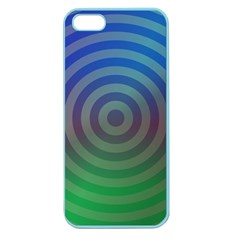 Blue Green Abstract Background Apple Seamless Iphone 5 Case (color)