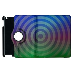Blue Green Abstract Background Apple Ipad 2 Flip 360 Case