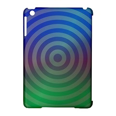 Blue Green Abstract Background Apple Ipad Mini Hardshell Case (compatible With Smart Cover)