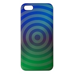 Blue Green Abstract Background Apple Iphone 5 Premium Hardshell Case