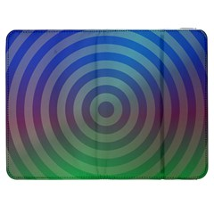 Blue Green Abstract Background Samsung Galaxy Tab 7  P1000 Flip Case