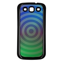 Blue Green Abstract Background Samsung Galaxy S3 Back Case (black)