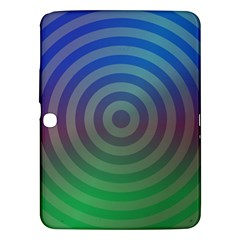 Blue Green Abstract Background Samsung Galaxy Tab 3 (10 1 ) P5200 Hardshell Case
