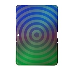 Blue Green Abstract Background Samsung Galaxy Tab 2 (10 1 ) P5100 Hardshell Case