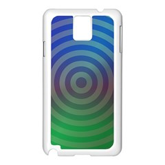 Blue Green Abstract Background Samsung Galaxy Note 3 N9005 Case (white)