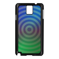 Blue Green Abstract Background Samsung Galaxy Note 3 N9005 Case (black)