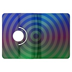 Blue Green Abstract Background Kindle Fire Hdx Flip 360 Case