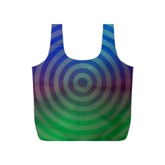 Blue Green Abstract Background Full Print Recycle Bags (s)