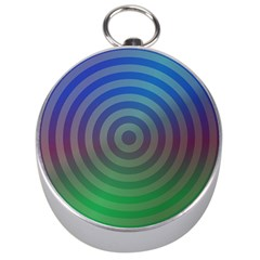 Blue Green Abstract Background Silver Compasses