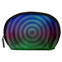 Blue Green Abstract Background Accessory Pouches (large)